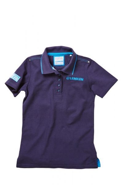 Women's polo shirt navy blue