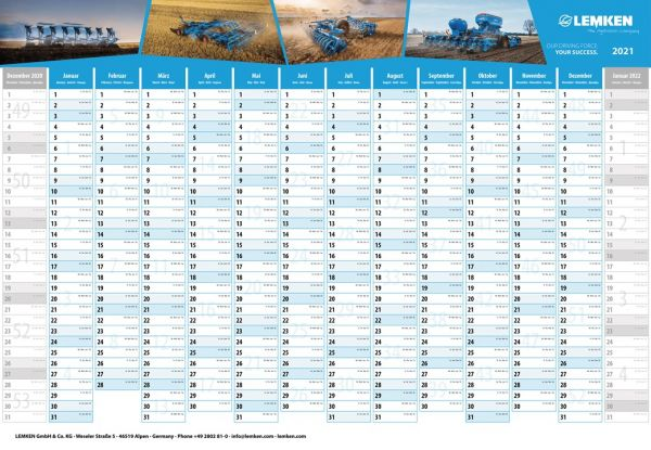 DIN A0 Wall Planner 2021 incl. poster
