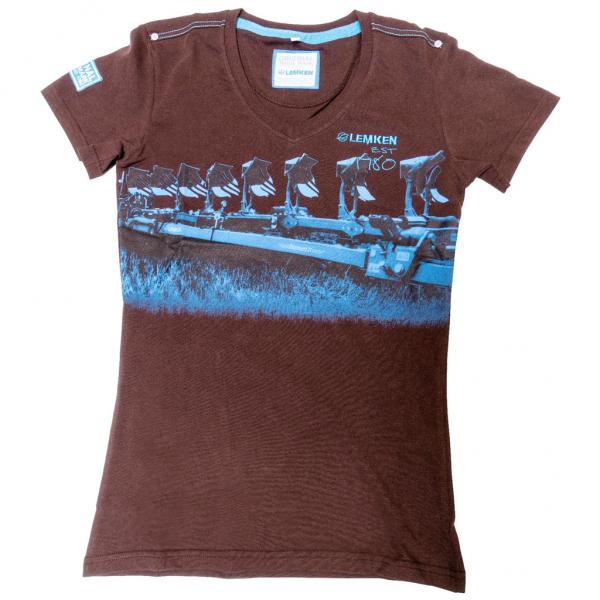 Damen T-Shirt, braun